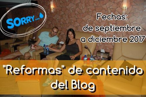 """""""Reformas"""" de contenido del Blog"""