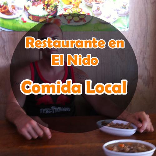 Restaurante en El Nido: Restaurante local