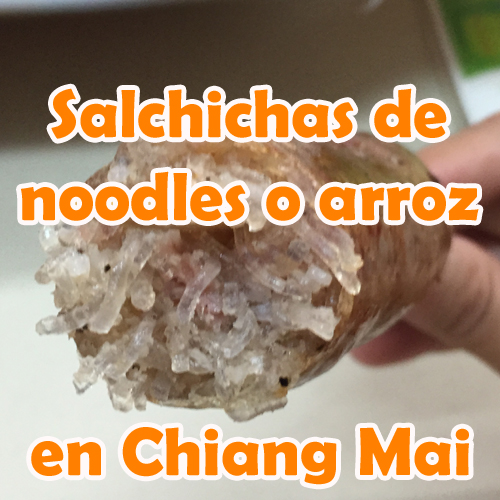 Salchichas de Noodles o Arroz